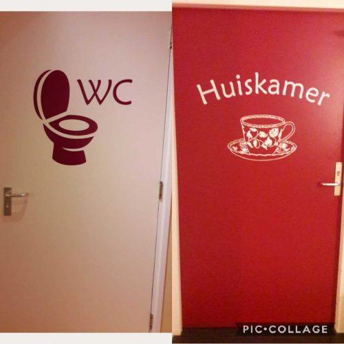 wc en huiskamer