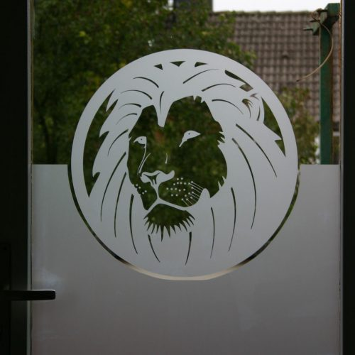 raamfolie leeuw