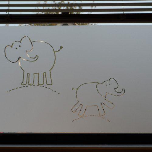 raamfolie olifant