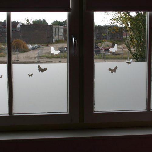 raamfolie poes-met-vlinders