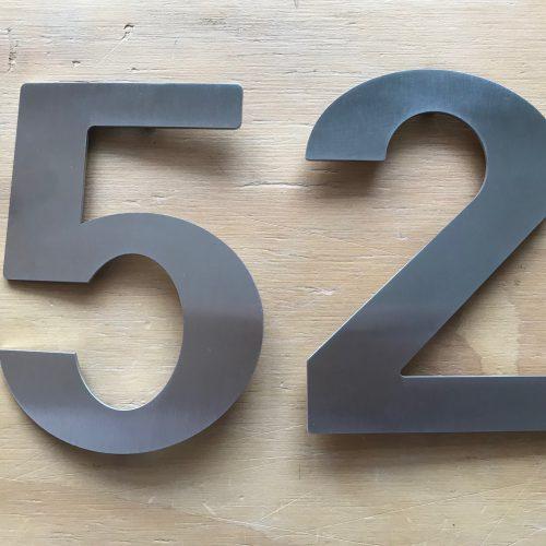 huisnummer rvs